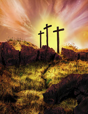 Gold Fill Photograph - Simply The Old Rugged Cross  by Debra and Dave Vanderlaan