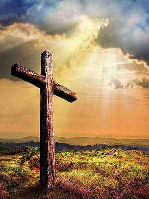Photograph - Simply The Old Rugged Cross  II by Debra and Dave Vanderlaan