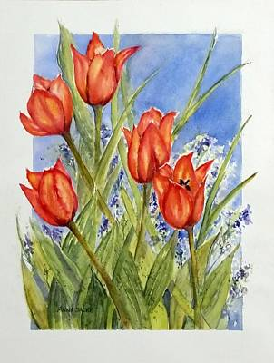 Painting - Simply Tulips by Anna Jacke