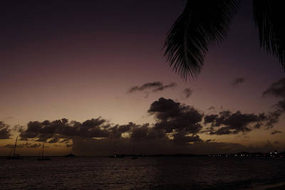 Sint Maarten Wall Art - Photograph - Simpson Bay Purple Sunset Saint Martin Caribbean by Toby McGuire