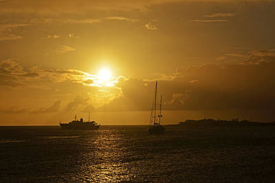Simpson Bay Sunset Saint Martin Caribbean Art Print by Toby McGuire