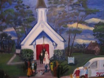 Simpson Christian Community Church Art Print by Gloria Condon