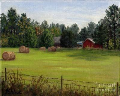 Painting - Simpsons Hayfield by Jean Ehler