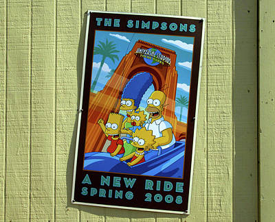 Photograph - Simpsons Pre Opening Sign by David Lee Thompson