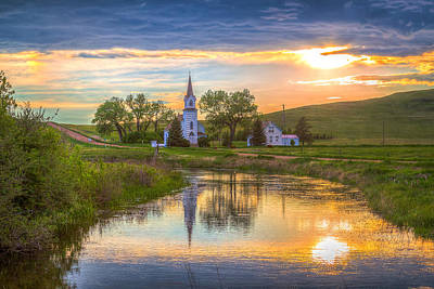 Little House On The Prairie Photograph - Sims Church 1 by Chad Rowe
