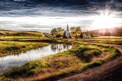 Little House On The Prairie Photograph - Sims Church 2 by Chad Rowe