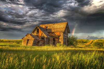 Little House On The Prairie Photograph - Sims House After The Storm by Chad Rowe