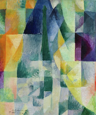 Lyrical Abstractions Painting - Simultaneous Widows, 2nd Motif, 1st Part by Robert Delaunay
