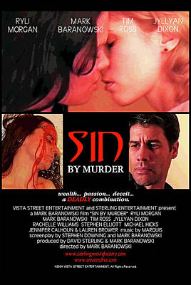 Digital Art - Sin By Murder Poster A by Mark Baranowski
