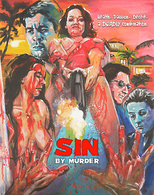 Painting - Sin By Murder Poster B by Mark Baranowski