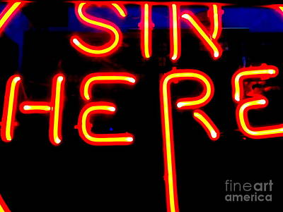 Photograph - Sin Here by Ed Weidman