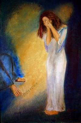 Condemnation Painting - Sin No More by Lyn Deutsch