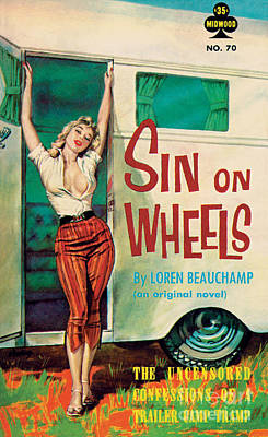 Painting - Sin On Wheels by Paul Rader
