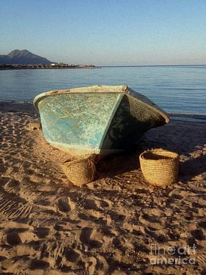 Most Sold Photograph - Sinai Beach Boat by Noa Yerushalmi