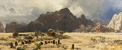 Sinai Landscape With The Mountain Jebel El-deir Art Print