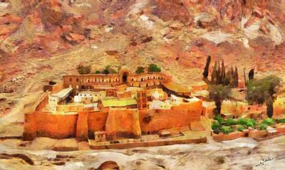 Sinai Monastery 2 Art Print