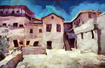 Flora Painting - Sinai Monastery 4 by George Rossidis