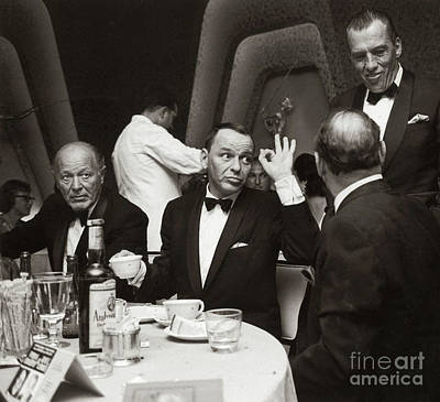 Photograph - Sinatra And Ed Sullivan At The Eden Roc - Miami - 1964 by Doc Braham