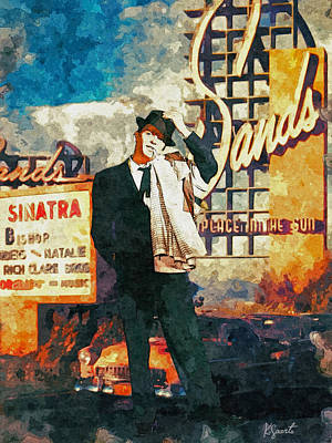 Digital Art - Sinatra At Sands by Kai Saarto