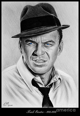 Musicians Drawings - Sinatra blue eyes edition by Andrew Read