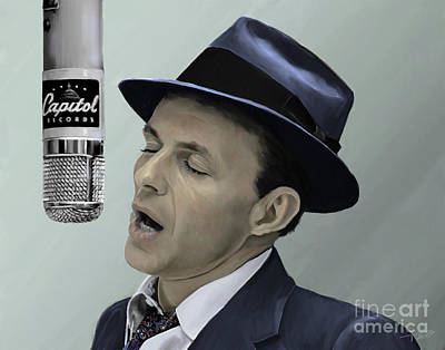 Sinatra - Color Art Print by Paul Tagliamonte