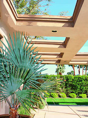 Sinatra House Photograph - Sinatra Patio Palm Springs by William Dey