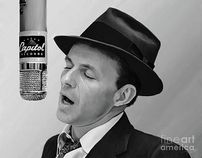 Songwriter Painting - Sinatra by Paul Tagliamonte