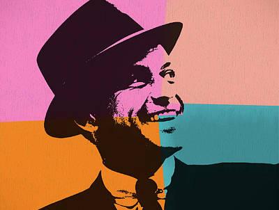 Frank Sinatra Mixed Media - Sinatra Pop Art by Dan Sproul