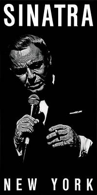 Painting - Sinatra The Chairman Of The Board  No Signature by Dan Menta