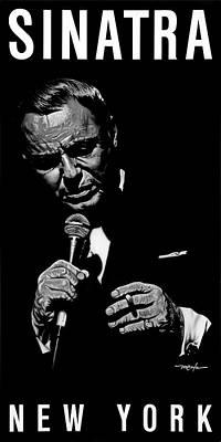 Painting - Sinatra W Sig by Dan Menta