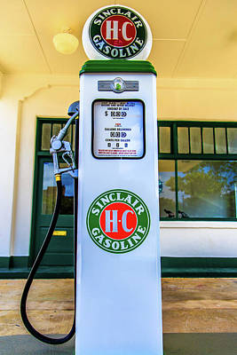Photograph - Sinclair Gasoline Gas Pump Front View by Doug Camara