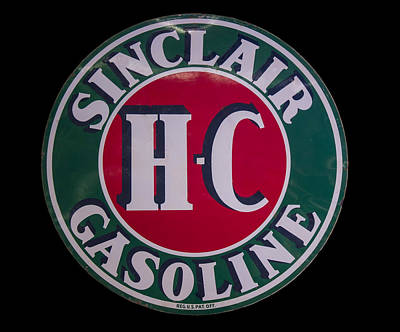 Digital Art - Sinclair Gasoline Porcelain Sign by Chris Flees