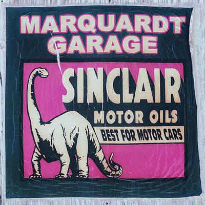 Photograph - Sinclair Motor Oil Vintage Sign by Debra Martz