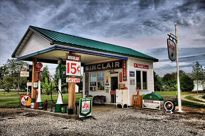 Photograph - Sinclair Station by CA  Johnson