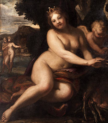 Painting - Sine Cerere Et Baccho Friget Venus by Attributed to Pietro Liberi