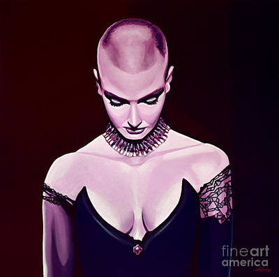 Folk Realism Painting - Sinead O'connor by Paul Meijering