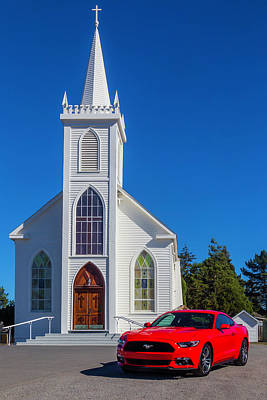 Hitchcock Photograph - Sinful Red Mustang by Garry Gay