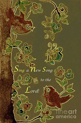 Painting - Sing A New Song by Hazel Holland