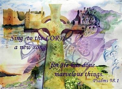 Psalms Painting - Sing A New Song by Maria Hunt