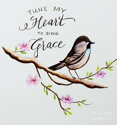 To Heal Painting - Sing Grace by Elizabeth Robinette Tyndall