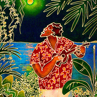 Sing Hanalei Moon Art Print by Angela Treat Lyon