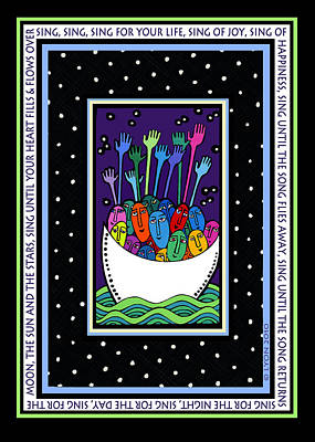 Sing Sing Sing Art Print by Angela Treat Lyon