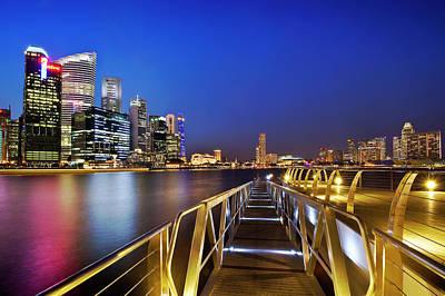 Singapore - Marina Bay Art Print by Ng Hock How