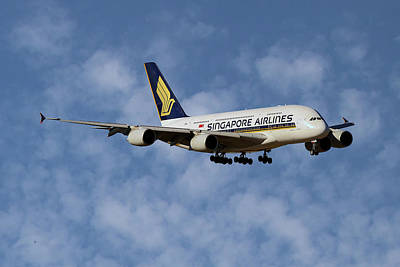 Singapore Airlines Airbus A380-841 1 Art Print