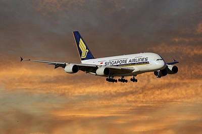 Singapore Airlines Airbus A380-841 3 Art Print