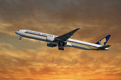 Singapore Airlines Boeing 777-312 2 Art Print