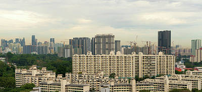 Photograph - Singapore Apartment Homes Construction by Jit Lim