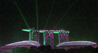 Photograph - Singapore At Night 2 by Ron Kandt
