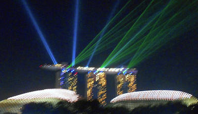 Photograph - Singapore At Night 4 by Ron Kandt