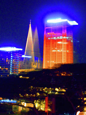 Photograph - Singapore At Night 5 by Ron Kandt